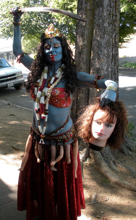 Daleela as Kali with her prize